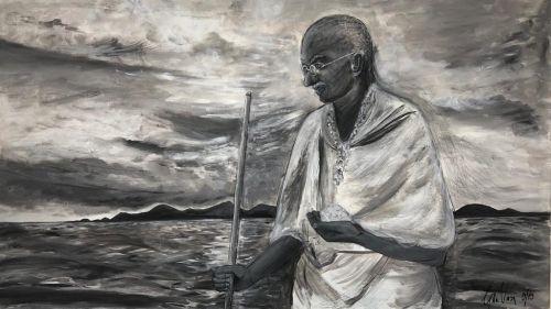 Gandhi - Acrylics