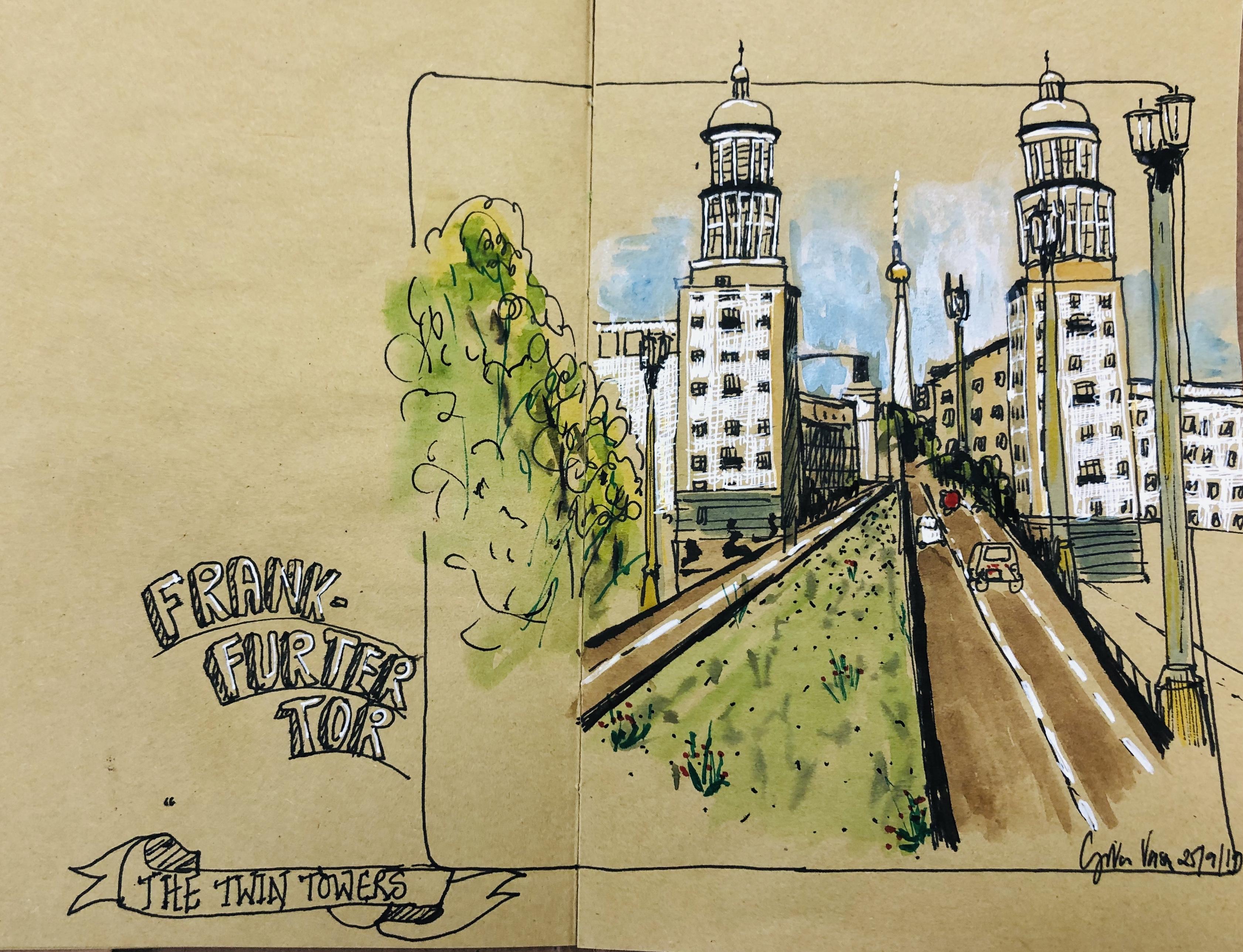 Frankfurter Tor - urban sketch