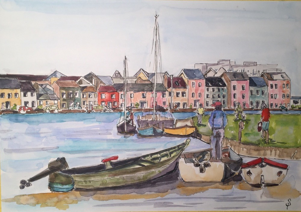 Claddagh- Harbour scene