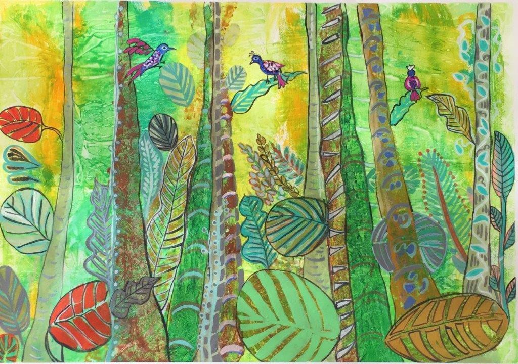 fantasy rain forest
